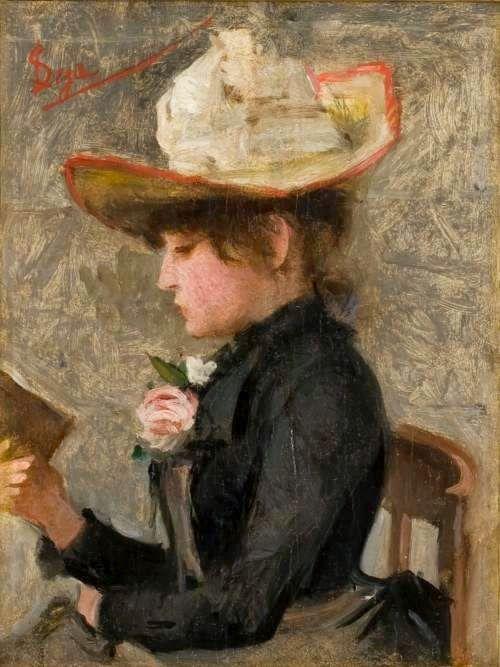Silvestro Lega born December 8, 1826 in Modigliana, Italy died September 21, 1895 (68) in Florence, Italy