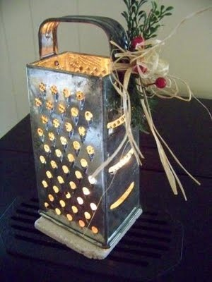 Cheese grater luminary