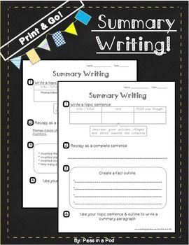 Summarizing Nonfiction Text | Summarizing Activities ...