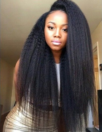 Kinky straight weave is so beautiful! - http://community.blackhairinformation.com/hairstyle-gallery/weaves-extensions/kinky-straight-weave-beautiful/