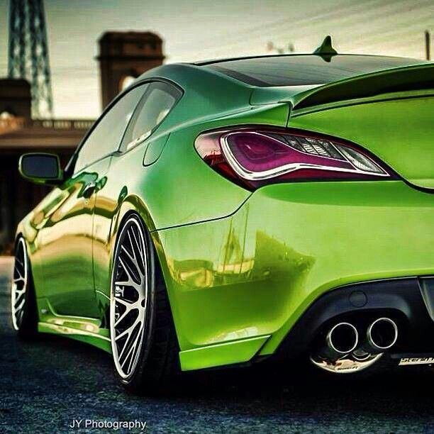 Jd - omgosh green... and a genesis coupe... love? I think so :)