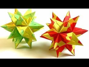 Sterne basteln aus Papier - Bascetta Stern Origami 3D Weihnachtsstern falten Tutorial   deutsch - YouTube