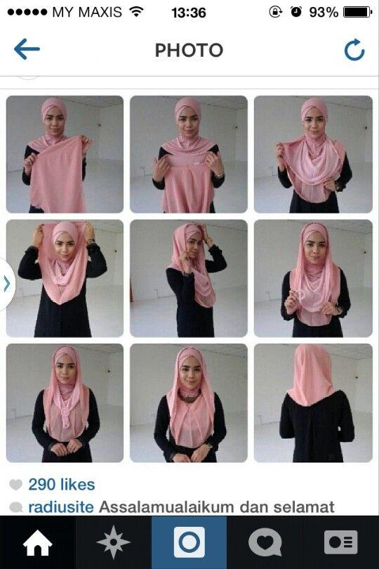 Radiusite :: hijab tutorial.. tudung instant.