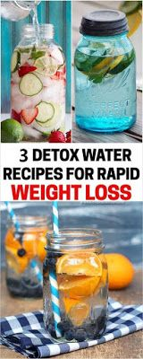 5 Detox Water Recipes For Rapid Weight Loss-easy weigh lose -fitness-weight lose beginers -