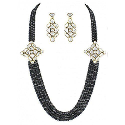 Beautiful Bollywood Indian Special Rakhi Gift Black Pearl Double Kundan Brooch long Strand Necklace Set Exclusive Jewellery, http://www.amazon.com/dp/B072MVFL17/ref=cm_sw_r_pi_dp_x_KQVCzbAA267C8