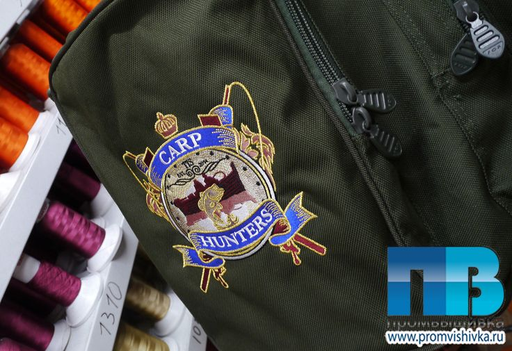 Вышивка на спортивной сумке Carp Hunters