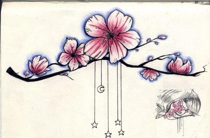 Tattoo_cerisier_bleu