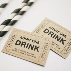 Free personalised Admit One Drink Ticket printable  template