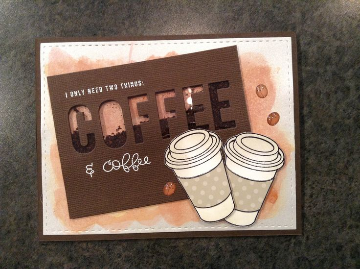 #SSSFAVE Simon Says Stamp February card kit - Coffee Tea and Cocoa - by Cori Bailey