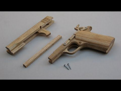 Free tutorial! Build a simple blowback rubber band gun - YouTube Hopefully my daughters will give me grandsons son I can make this for them