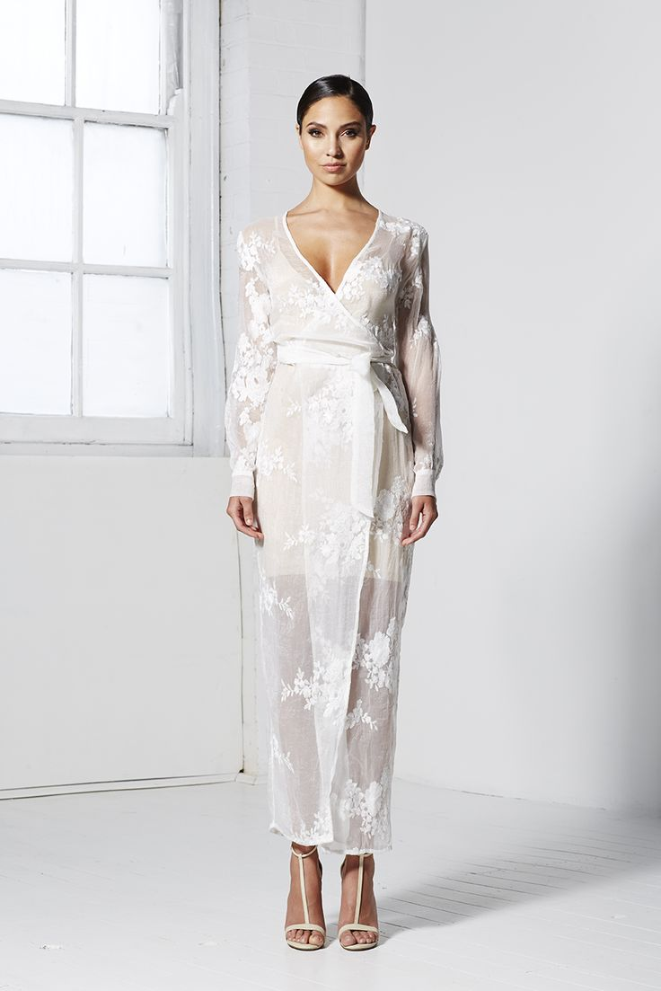 LUST WRAP MAXI DRESS WHITE