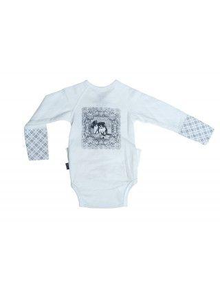 Lilleba Baby- og Barneklær - Body med Kattepuser - Guttelus