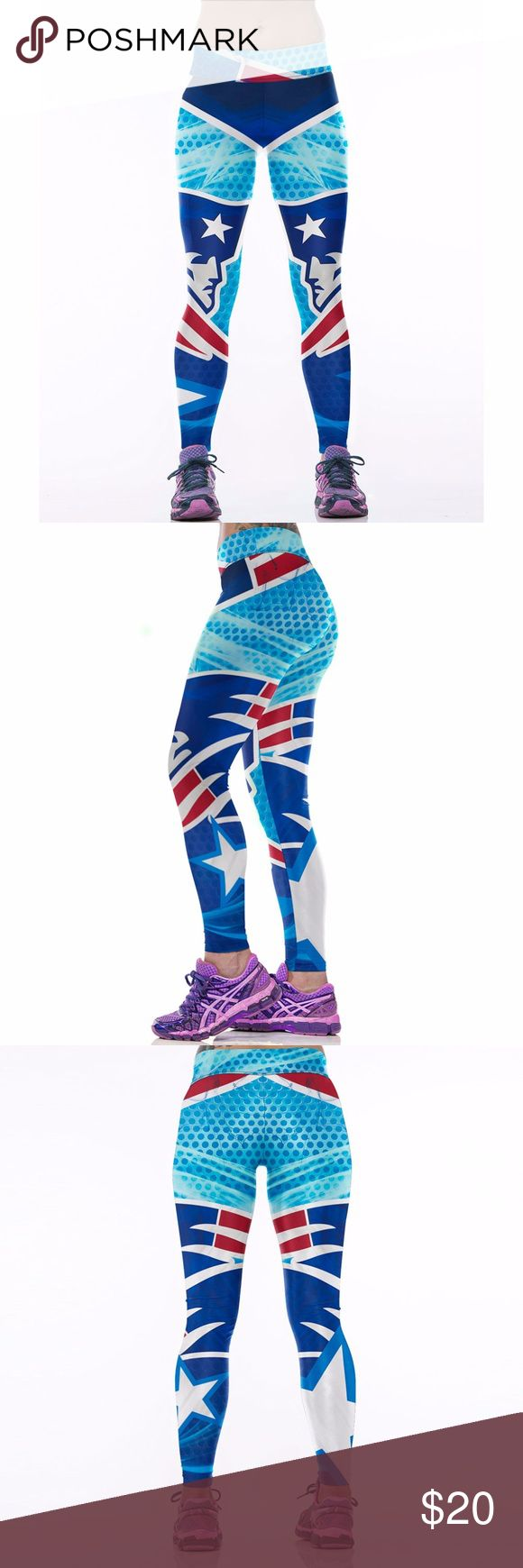 New England Patriots Leggings Lightweight soft- quick dry breathable fabric Suitable for any kind of workout, gym, yoga, Zumba, cycling, etc. or casual wear High-quality construction with 6-thread double lock stitch seams Four-way Stretch Material: 82% Polyester, 18% Spandex Pants Leggings