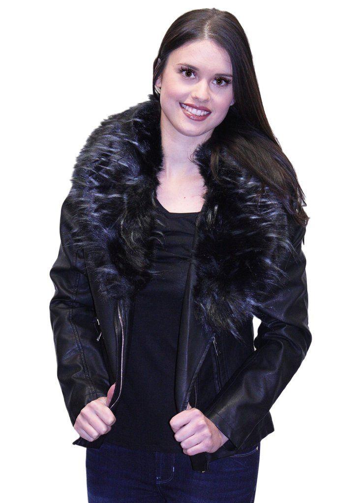 Molly Bracken Faux Fur Collar Jacket
