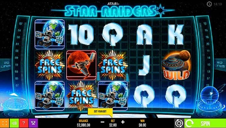 Hop in to one of the spacecrafts and look for your lucky star, full of hidden winnings, at the Star Raiders slot machine, that can now be played for free. #slotzzz #slots #free #jackpot #star #raiders