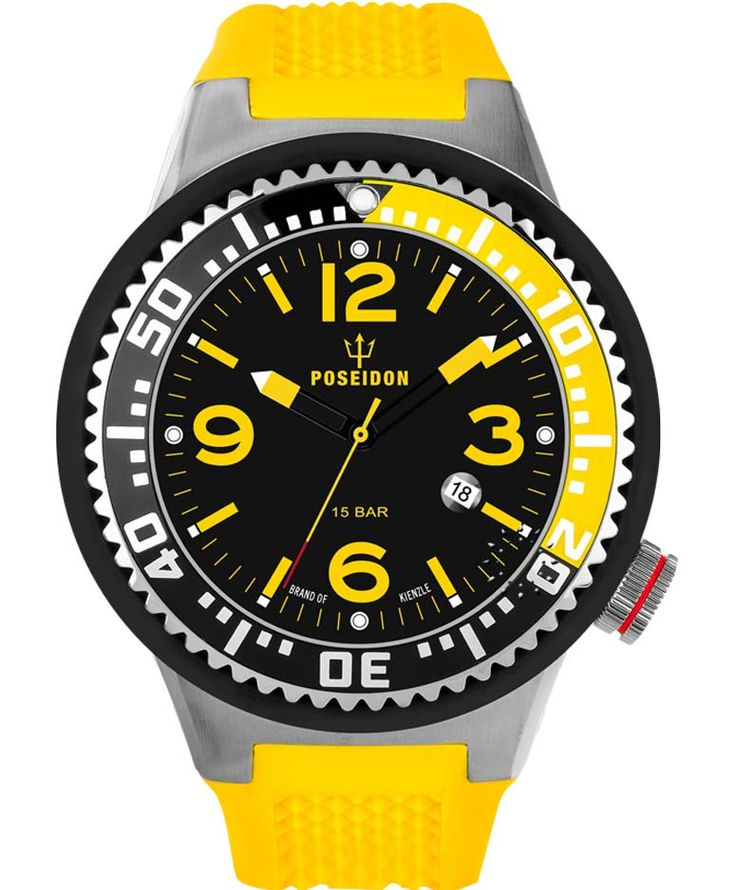 POSEIDON XXL Yellow Silicone Strap Τιμή: 119€ http://www.oroloi.gr/product_info.php?products_id=34070