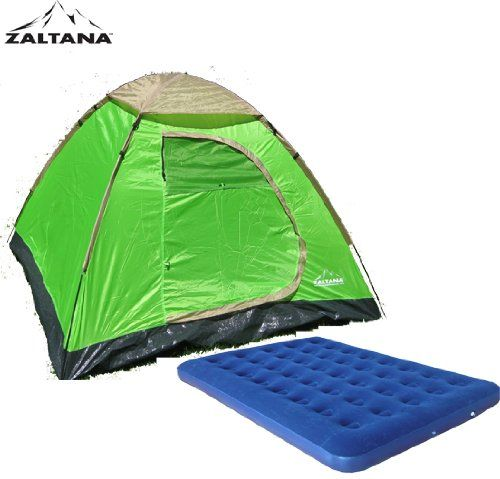 Zaltana 3 PERSON TENT WITH AIR MATTRESS DOUBLE *** For more information, visit image link.