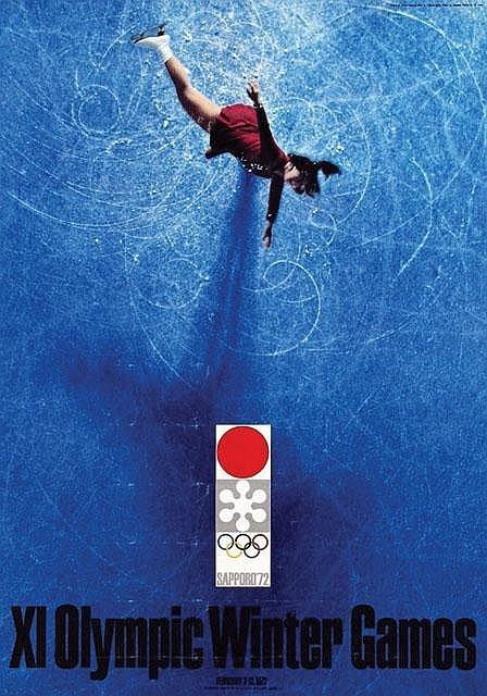 Yusaku Kamekura - Olympic Winter repinned by Awake — http://designedbyawake.com #japan #graphic #design #poster #olympics