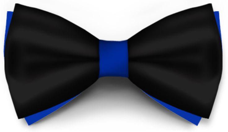 Papiox.ro recomandă papionul Negru Cu Albastru Safir Saten  din categoria Evenimente cu materiale: Negru Saten, Albastru Safir Saten
