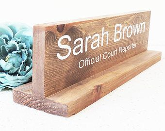office desk plaque, name sign for work, gift for boss, wooden name sign, personalised wooden sign, desk stand, name board, manager desk