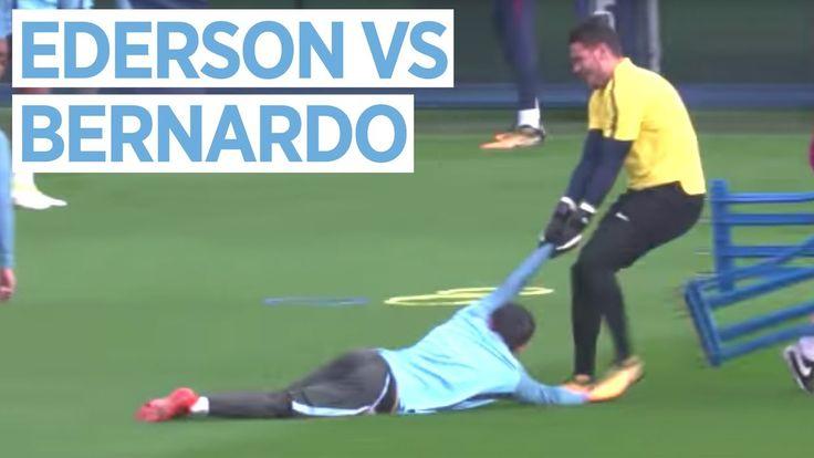 EDERSON VS BERNARDO SILVA | Man City vs Shakhtar Donetsk | Champions League Training https://youtu.be/kmHM8Axfxsk