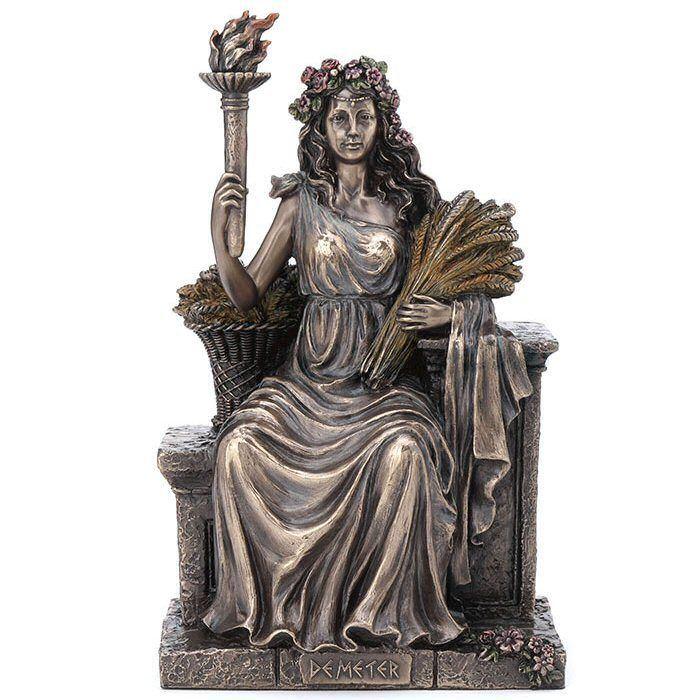 Bronze Demeter Greek Goddess of Agriculture Sculpture in ...