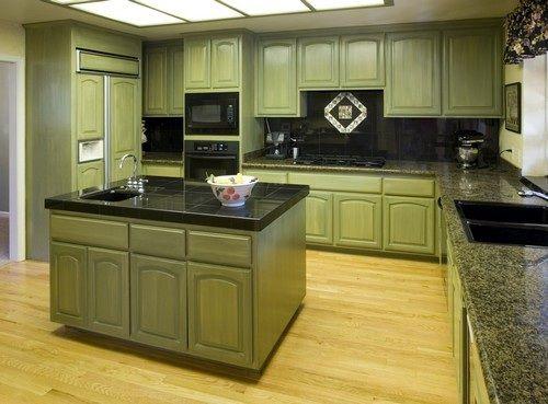 Gabinetes verdes para cocina colonial | cocinas modernas con color marron fotos cocinas en color azul cocinas ...