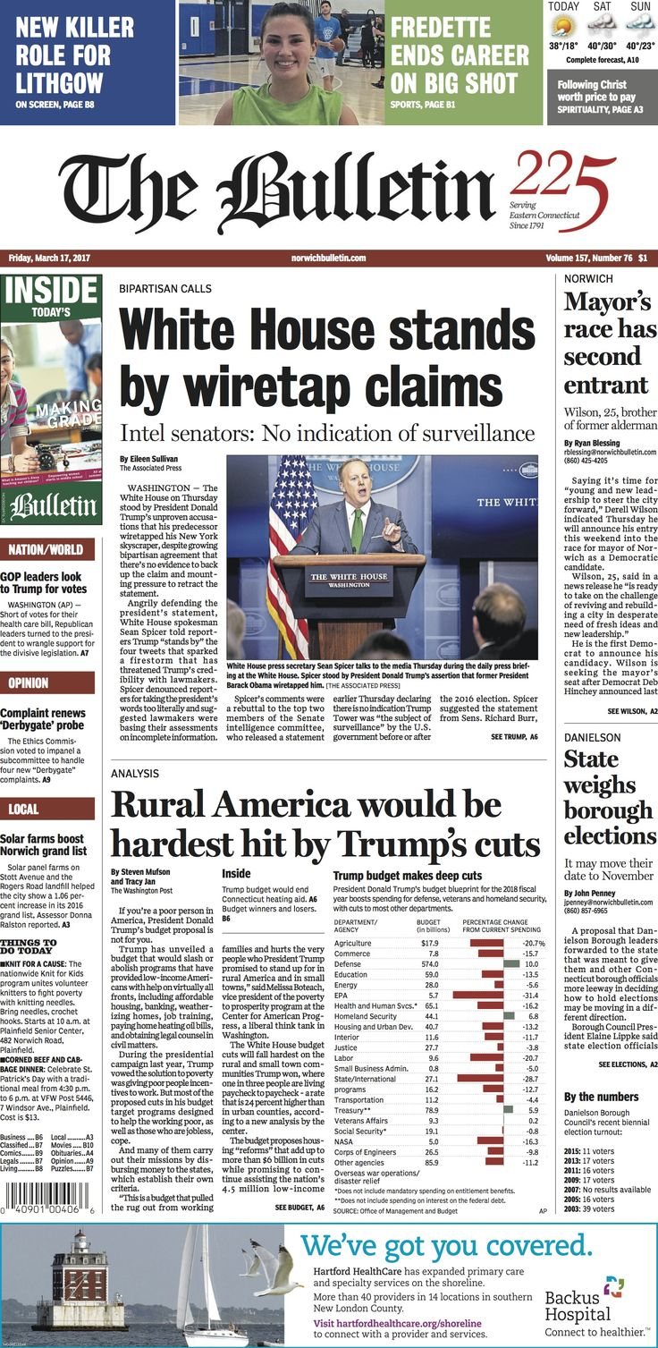 Friday, March 17, 2017 - Subscribe to The Bulletin today: http://www.norwichbulletin.com #ctnews #newlondoncounty #windhamcounty