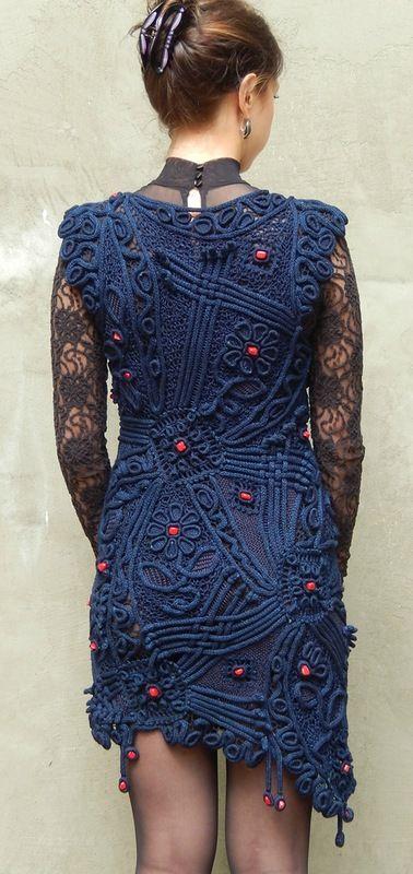 Awesome! Beautiful freeform crochet dress