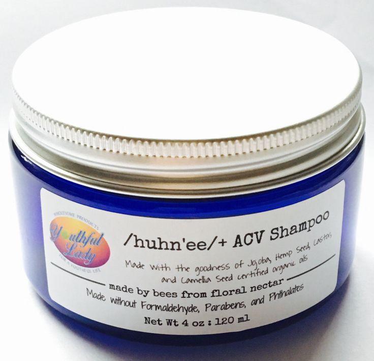 A personal favorite from my Etsy shop https://www.etsy.com/listing/483741699/huhnee-acv-shampoo-net-wt-4-oz-free