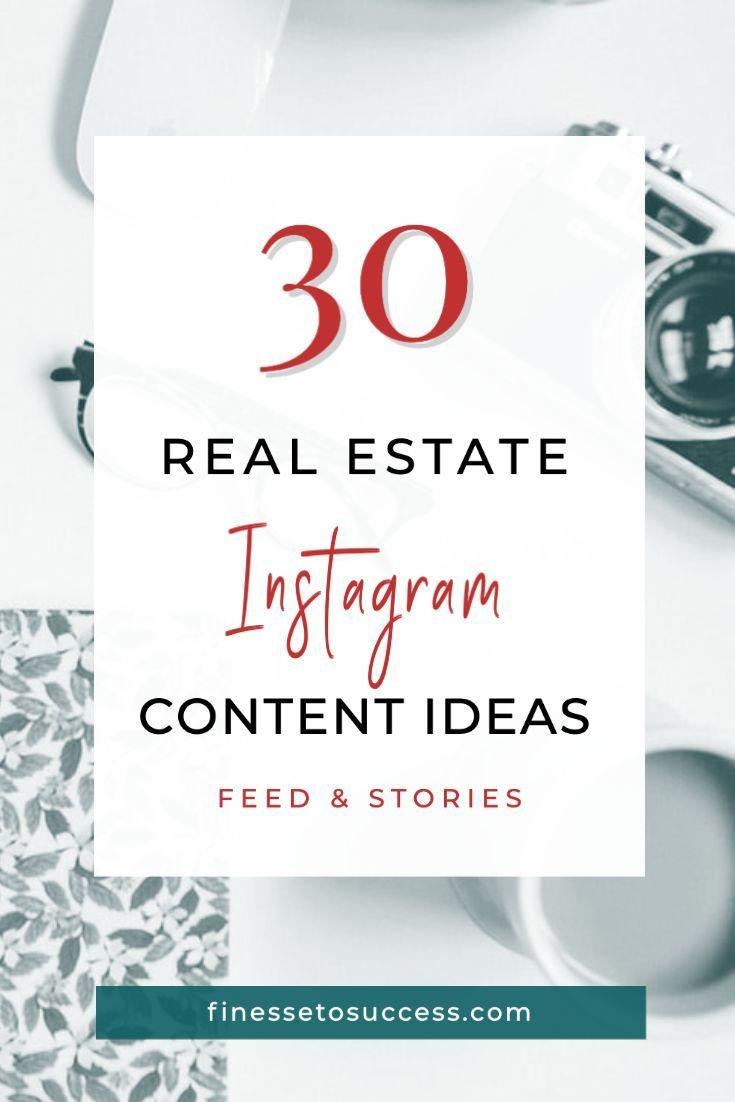 Instagram Real Estate Content Ideas For Feed And Stories Real Estate Company Names Real Estate Agent Marketing Realtor Branding Ideas