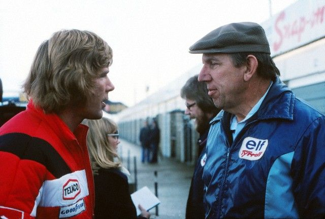 James Hunt et Ken Tyrrell 1976