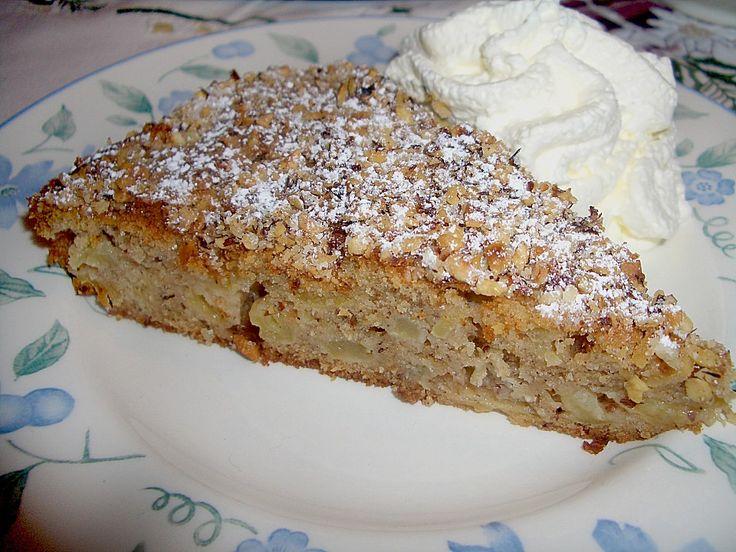 Chefkoch.de Rezept: Apfel - Zimt - Nuss - Kuchen