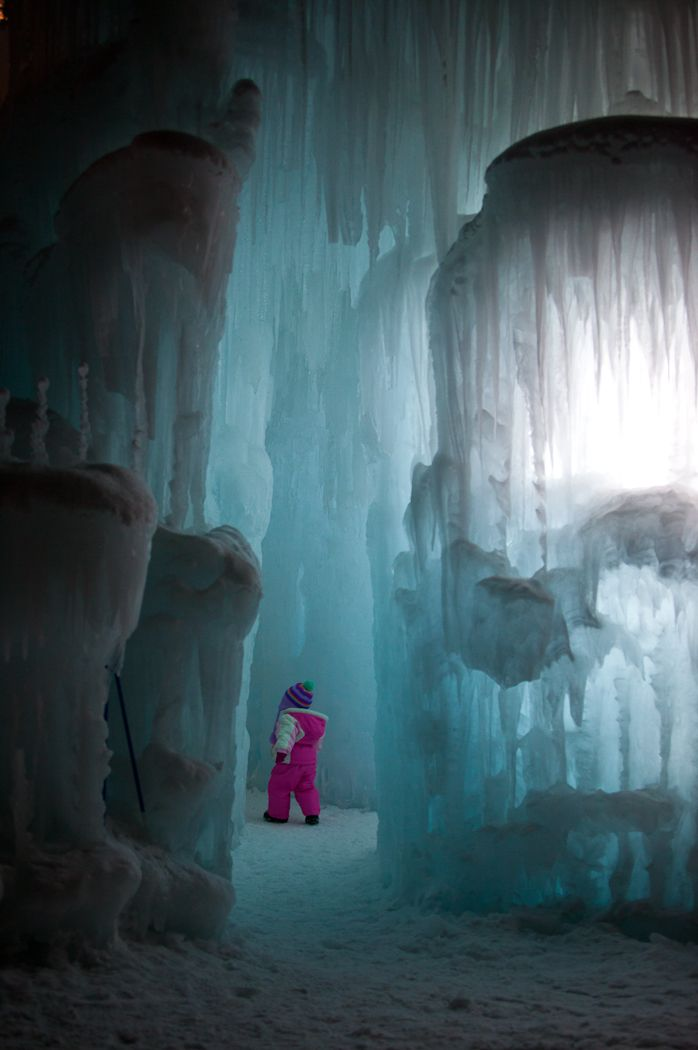 Visit an Ice Castle Sculpture Garden – Midway, Utah. There are also ice sculpture gardens in Breckenridge, CO and Lincoln, New Hampshire