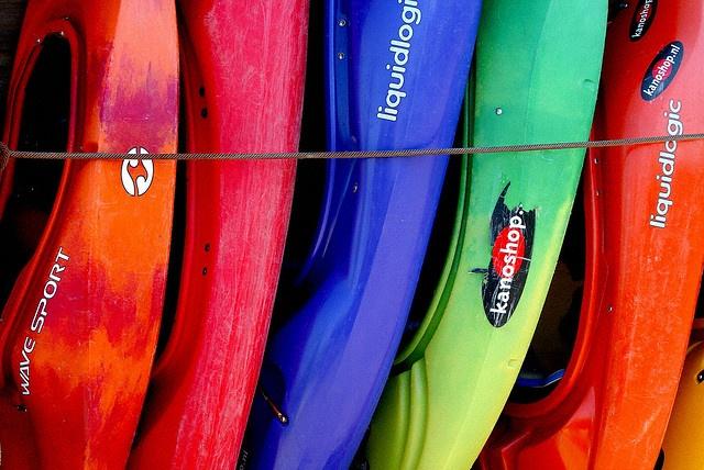 kayaks: Colour, Photos, Kayaks Kayaking, Kayaking Fishing, Colorful Things, Bay Kayaks, Colorful Bananas, Kayak Colors, Kayak Ideas