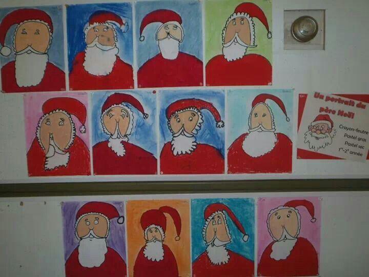 Portraits du père Noël 1er cycle