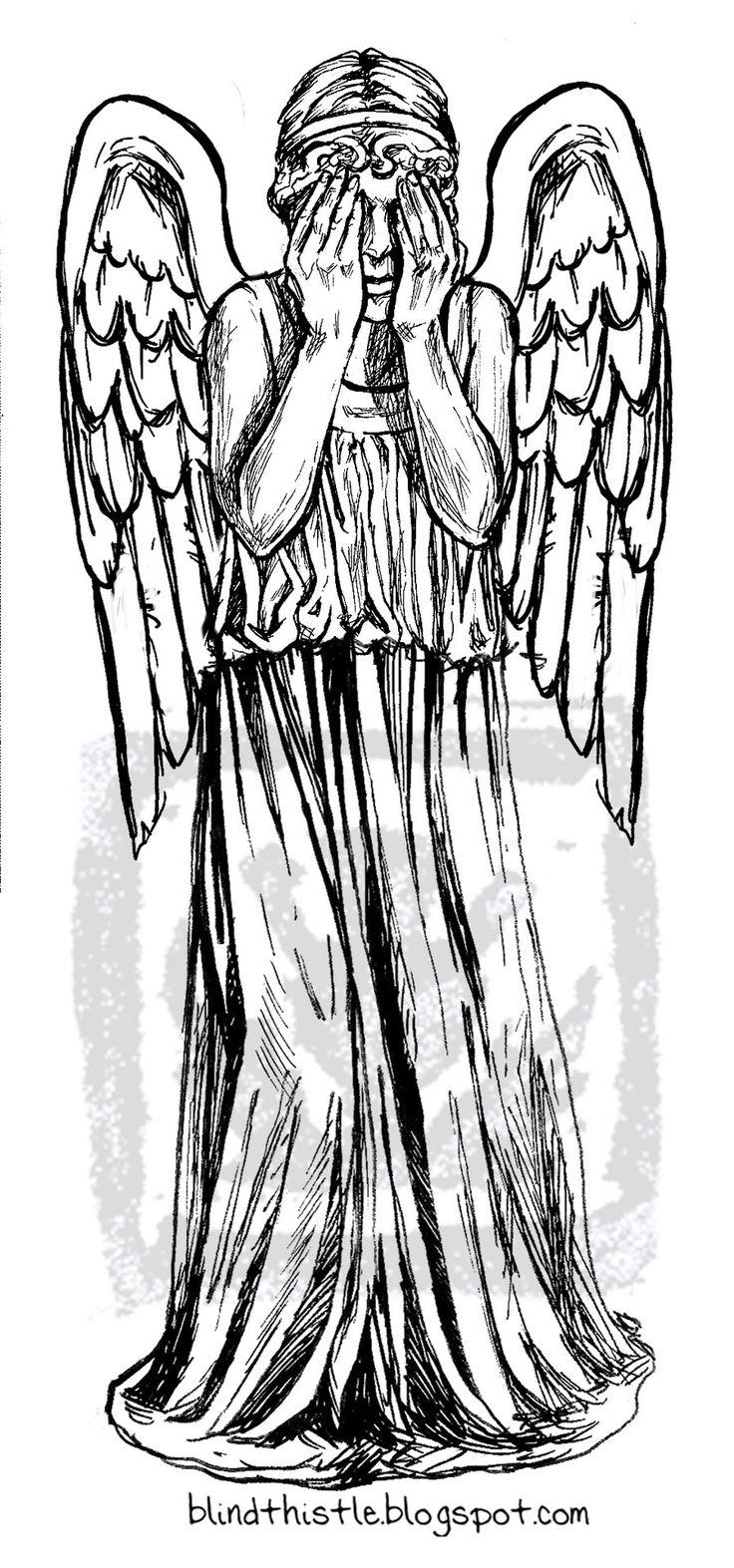 плачущий ангел доктор кто картинки карандашом