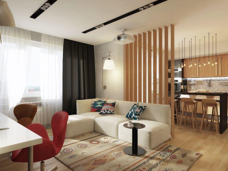 Wood&Stone — проект однокомнатной квартиры / Surfingbird - мы делаем интернет лучше