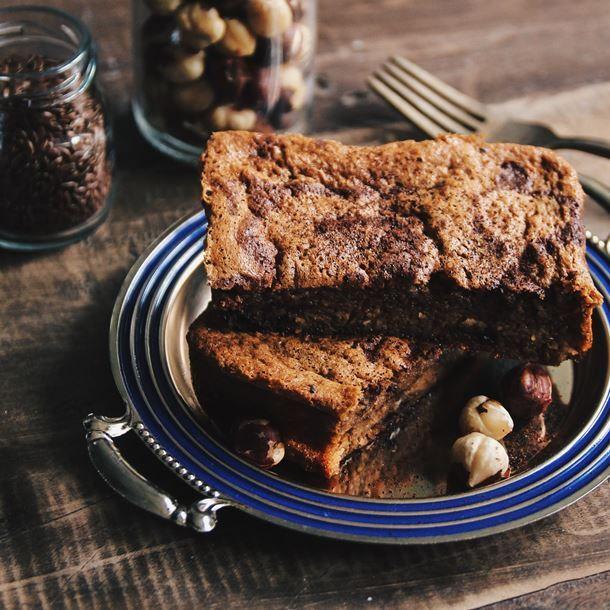 Brownies noisettes et graines de chia