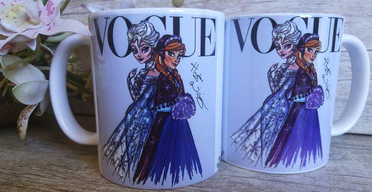 Caneca Princesas Disney Elsa & Anna
