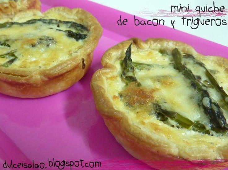 Dulce i Salao: Mini quiche de bacon y trigueros