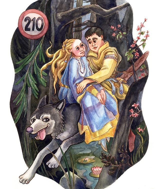 #watercolor #illustration #drowing #story #wolf #vasnetsov