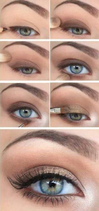 Pretty natural looking eye makeup tutorial