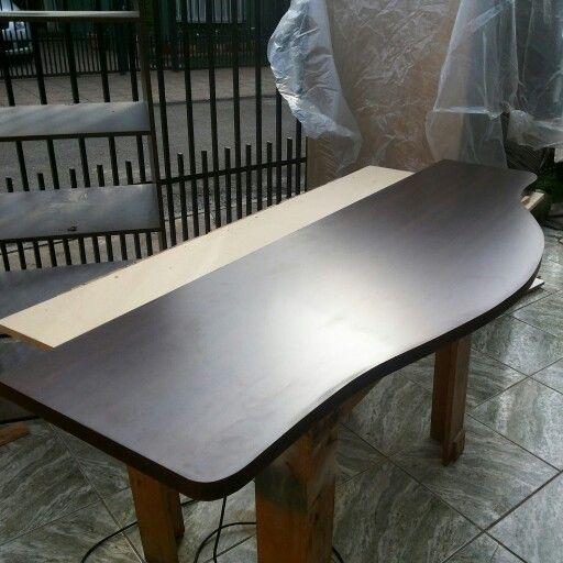 Cubierta de escritorio, tablero de melamina chocolate