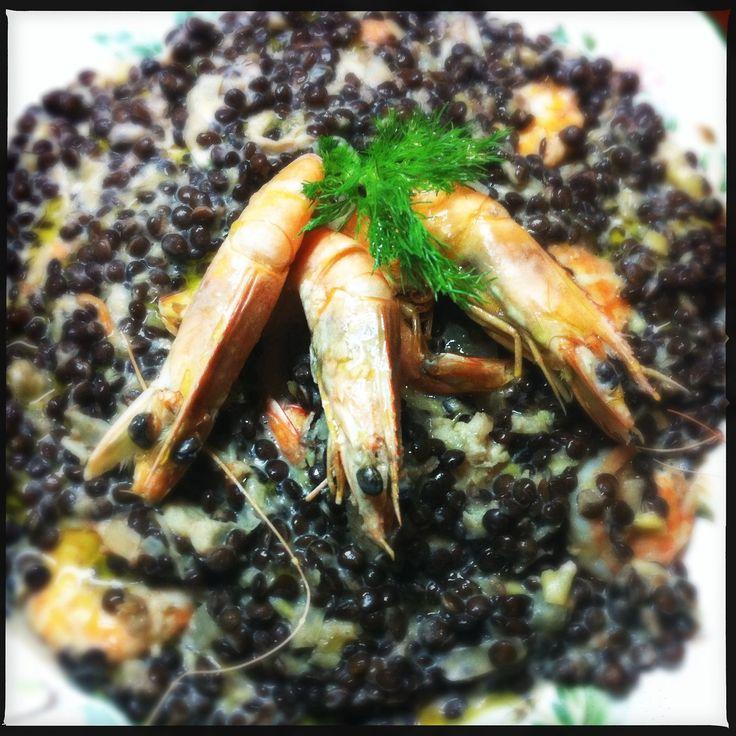 Φακές με γαρίδες
