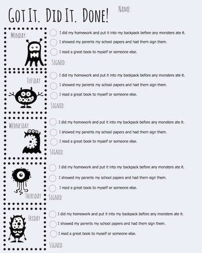 Haha love it. Do you give your students homework? Here's a fun checklist to keep them on track.