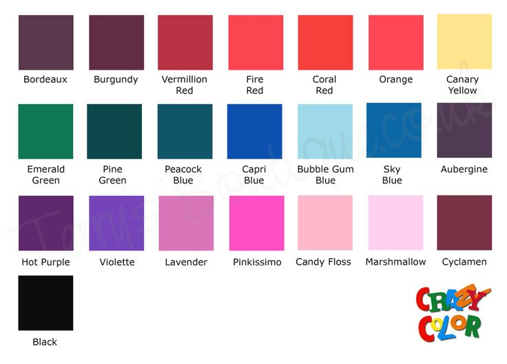 nice purple red hair color chart
