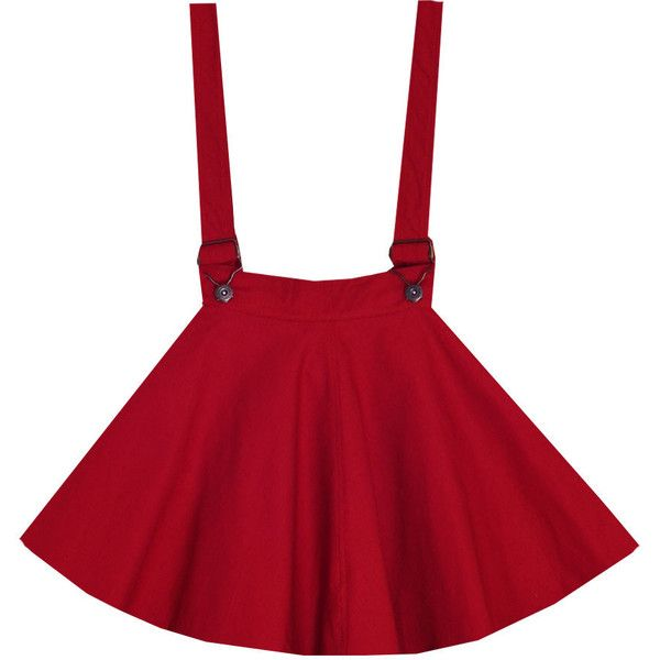 Bonne Chance Collections Cherry Chapstick Lolita Overalls Dress ($35) ❤ liked on Polyvore featuring dresses, skirts, bottoms, bonne chance y chapstick