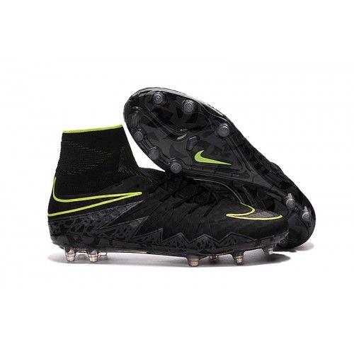 Ny Billig Nike Hypervenom II Phantom Premium FG Fotballsko For Menn - Svart Grønn, Nike Hypervenom sko til herre
