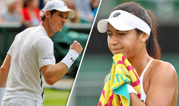 Andy Murray sympathises with Heather Watson after Wimbledon woe saw Brit turn to Twitter